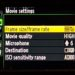 Nikon D4 Video Settings